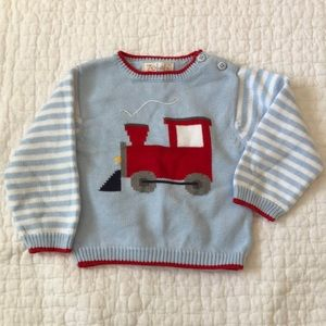 Zubels cotton knit sweater with Train, 18 mo